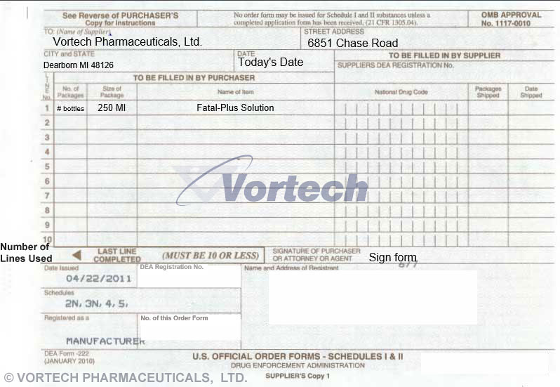 How To Order  Vortech Pharmaceuticals Ltd